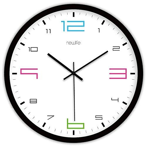 nllpjmf digitale orologio da parete silenzioso senza ticchettio silenzioso orologio da parete decorativo orologi mute circolare, 12, 10 pollici