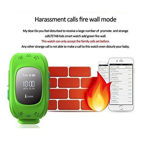 Lp Green Gps Tracker Kids Smart Watch for Sos Emergency ...