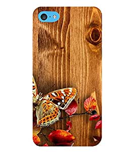 HiFi Designer Phone Back Case Cover Apple iPhone 6s Plus :: Apple iPhone 6s+ ( Wood look ButterFly )