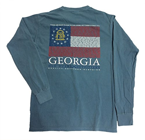 Old Guard Outfitters Georgia City Flag Long Sleeve Pocket Tee-xl (Party City Athens Georgia)