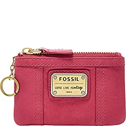 Fossil Emory Zip Coin Wallet, Bright Pink, One Size