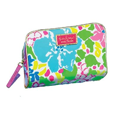 Estee Lauder Lilly Pulitzer Designer Cosmetic Bag 2014 PVC Limited Edition