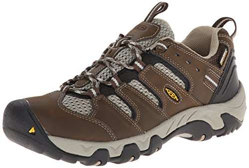 KEEN Women's Koven WP Hiking Shoe, Cascade/Aluminum, 8 M US