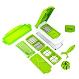 House of Quirk TM ABS Quality 10 pcs Set Best Mandoline Kitchen Genius Slicer Dicer Cuts Vegetables & Fruits with manual CD