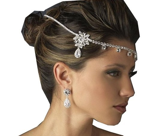 Wedding Crown Crystal Rhinestone Headdress Necklace Classic Jewelry , Party Jewelry
