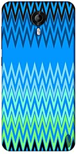 Snoogg Wave Patterns Blues Designer Protective Back Case Cover For Micromax Canvas Nitro 3 E455