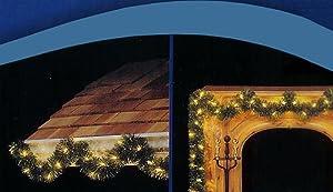 18' Pre-Lit Green Pine Artificial Christmas Garland - 50 Clear Lights