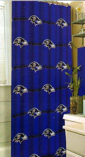 Team Curtains Teamcurtainscom: Baltimore Ravens Shower Curtain, Ravens Shower Curtain