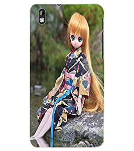 ColourCraft Cute Doll Back Case Cover for HTC DESIRE 816