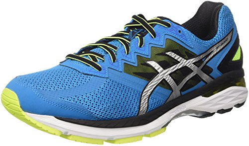 Asics Gt-2000 4, Scarpe Running Uomo, Blu (Blue Jewel/Black/Safety Yellow), 46.5 EU
