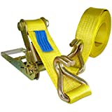 "Heavy-Duty 20,000 LB 3"" x 30' Ratchet Tie-Down with J-Hook"