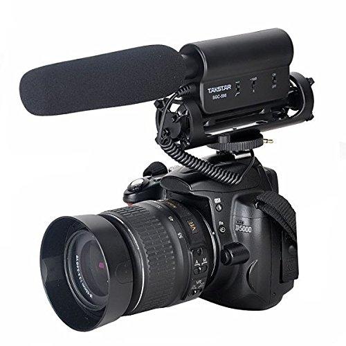Takstar CANON NIKON PENTAX OLYMPUS PANASONIC D-SLR ビデオ カメラ DV用 ステレオショットガンマイク
