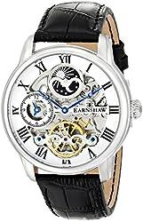 Thomas Earnshaw Men's ES-8006-01 Longitude Analog Display Automatic Self Wind Black Watch