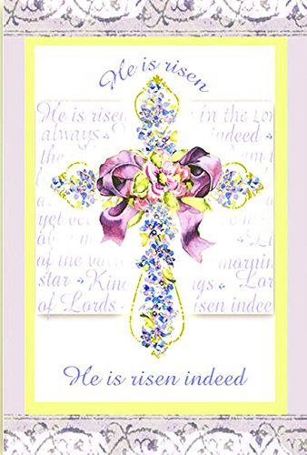 He Is Risen Easter Garden Flag