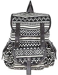 Yonger Stripe Travel Rucksack Satchel Bookbags For Girls Backpack School Bag Women