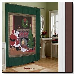 Christmas santa, Cz Curtain Shower
