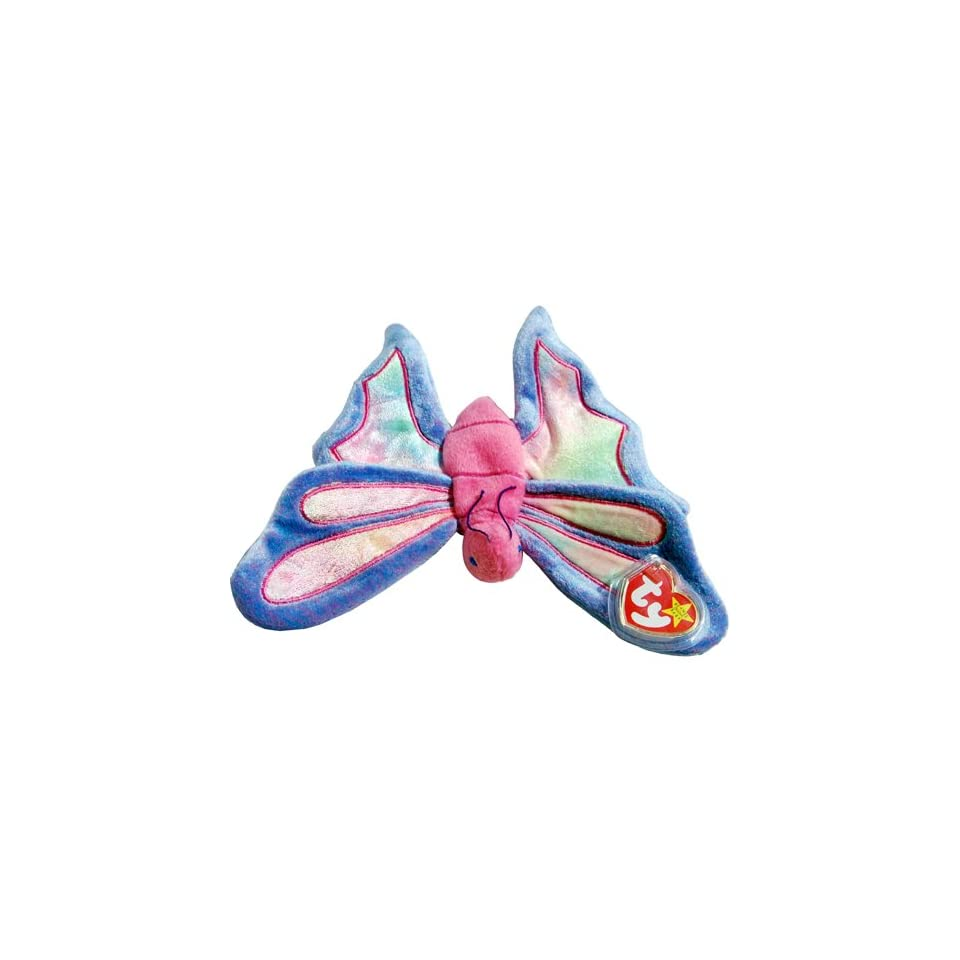 5b435f16a8d 12 Flitter the Periwinkle Ty Dyed Butterfly MWMT Dozen Ty Beanie Babies