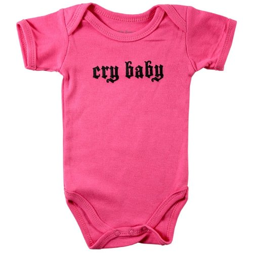 Baby Sayings Bodysuit - Cry Baby, 3-6 months