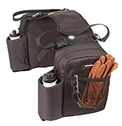 Saddle Bag Double Water Bottle Gear Carrier, Brown