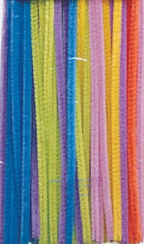 "Creativity Street Chenille Stetems/Pipe Cleaners 12"" x 6mm 100-Piece Hot colors assorted"