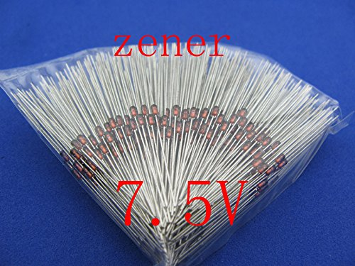 500Pcs/Lot, 7.5V Zener Diode, 0.5W, 1/2W, New.
