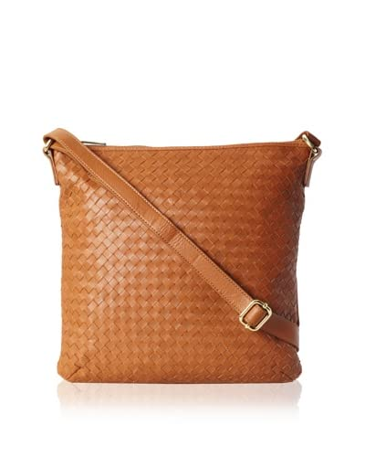 Zenith Women's Woven Small Shoulder bag, Cognac