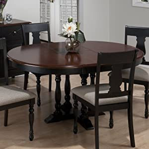 Jofran 293 48 chesterfield tavern round to for 48 dining table with leaf
