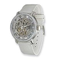 Moog Fashionista Chameleon Swarovski Bezel/White Strap Watch