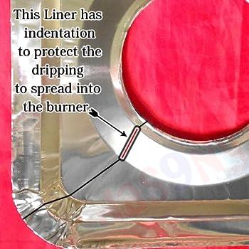 40 Square Universal Aluminum Foil Square Gas Burner Disposable Liners BibCovers WHOLESALE