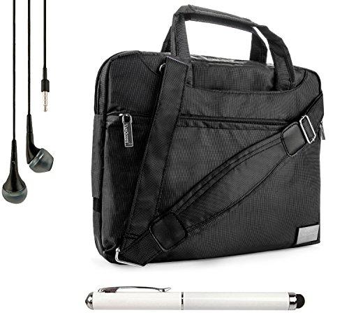 Nineo Sport Nylon Shoulder Bag Carrying Case For Apple Ipad Mini 3 2 1 (1St, 2Nd, And 3Rd Gen) + Handsfree Earphones + Stylus Pen