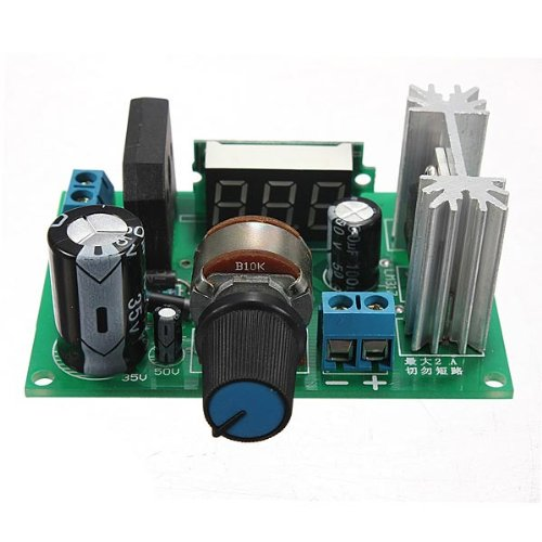 Lm317 Adjustable Voltage Regulator Step Down Power Supply Module With Led Meter