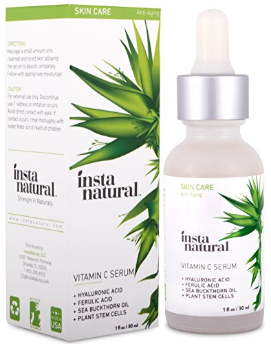 InstaNatural Vitamin C Serum with Hyaluronic Acid & Vit E - Natural & Organic Anti Wrinkle Eraser Formula for Face - Dark Circle, Fine Line & Sun Damage Corrector - Restore & Boost Collagen - 1 OZ (Super C Sleep compare prices)