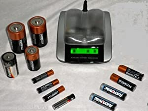 Alkaline Battery Recharger for AAA, AA, C and D size Batteries