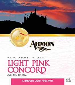NV Armon Light Pink Concord New York Rosé 750 mL