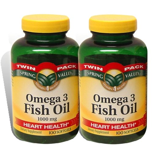 Spring Valley - Fish Oil Omega-3, 1000 mg, 200 Softgels