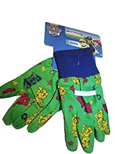 Paw patrol kids gardening gloves green novelty for Gardening gloves amazon