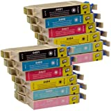 12 CiberDirect Compatible Ink Cartridges for use with Epson Stylus Photo RX640 Printers.