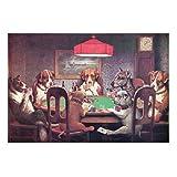 Dogs Playing Poker Metal Sign