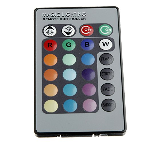 RONSHIN 24 Tasten Fernbedienung For E14 E27 MR16 GU10 RGB 16 Farbwechsel LED Licht Lampe 16 multicolors inklusive LB00005