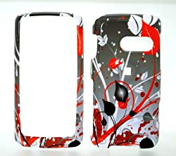 Burst Wave Snap on Hard Skin Shell Protector Cover Case for Lg Rumor Touch Ln510 + Microfiber Pouch Bag