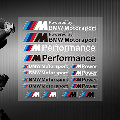 appson-badge-adesivo-motor-sport-16-pezzi-set-completo-bianco-cruscotto-per-bmw-3-5-m3-m5-m6-x5-x3-z