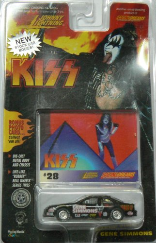 Johnny Lightning Kiss Gene Simmons Stock Car with Card #28 Ace Frehley - 1