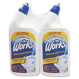 Disinfectant Toilet Bowl Cleaner, 32 oz Bottle, 2/Pack