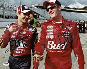 DALE EARNHARDT JR. & JEFF GORDON SIGNED AUTHENTIC 11X14 PHOTO CERTIFICATE OF... by Press Pass Collectibles