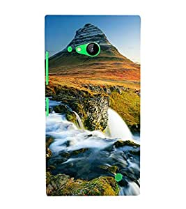 printtech Scenic Waterfall Green Mountain Back Case Cover for Nokia Lumia 730::Microsoft Lumia 730