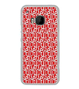 ifasho Designer Phone Back Case Cover HTC One M9 :: HTC One M9S :: HTC M9 ( Pink Heart Pattern Design )