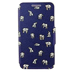 GENERIC Kinston® Indian Elephants Pattern Full Body PU Cover with Stand for Samsung Galaxy A3/A5/A7/A8 #04744368