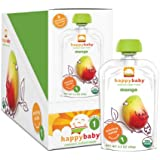 Happy Baby Organic Baby Food 1 Starting Solids, Mango, 3.5 oz (Pack of 16)