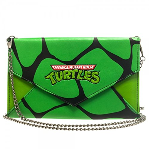 Teenage Mutant Ninja Turtles TMNT Green Envelope Wallet Purse with 48
