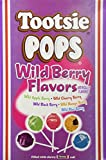 Tootsie Pops Lollipops Wild Berry Flavors 100 Count Box
